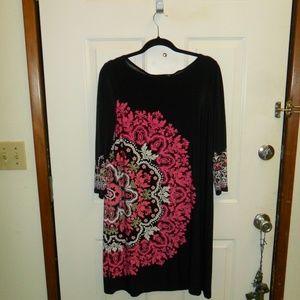 Black pattern dress
